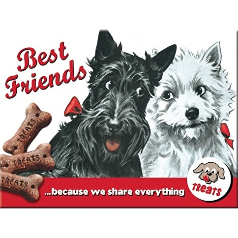 Nostalgic Art Best Friends Magnet 6X8cm Renkli